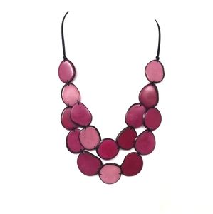 Jewelry - Handmade tagua Nut set necklace and earrings.